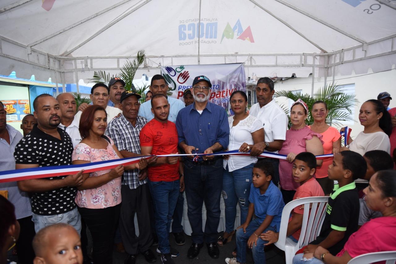 Alcaldía de Moca Inaugura obra del presupuesto participativo en el Barrio Milito.